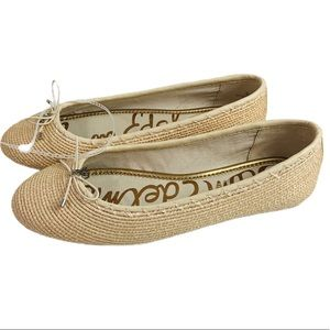 Sam Edelman Falcon Tan Woven Ballet Flats NEW